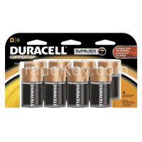 DURACELL  MN13RT8Z  Battery, D, Alkaline, PK8