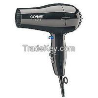 CONAIR 247BW Hairdryer, Handheld, Black, 1875 Watts