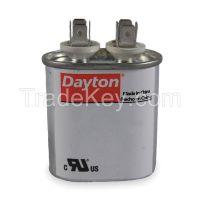 DAYTON 2MDV3 Motor Run Capacitor, 4 MFD, 2-3/4 In. H