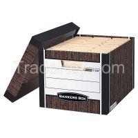 BANKERS BOX    00725   Banker Box, Ltr/Lgl, Woodgrain, PK12