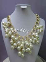 New Arrival Pearl Chain Necklace, Gold Plating Necklace