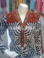 printed and embroidered lawn kurtis