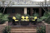 patio furniture set made of aluminium rattan