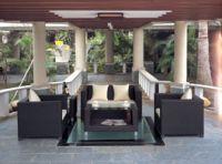 rattan sofa set(1pc coffee table, 1pc love sofa, 2pcs singel sofa)