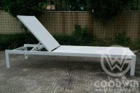 GW3439-L1 outdoor furniture AL frame plastic fabric chaise lounge