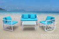 GW3297SET goodwin new design outdoor furniture aluminum frame sofa set
