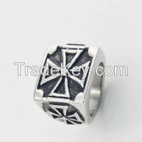 Stainless Steel Jewelry Factory direct Supply Cross Rings