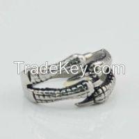 Stainless steel punk white Fashion Skull Biker Ring Jewelry