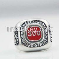 Popular rings Red Number 300 Skull Biker