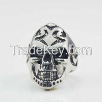 punk white Zircon cube eye Fashion Skull