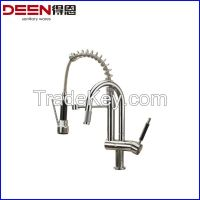Brass Single Handle Pull Out Kitchen Faucet Mixer