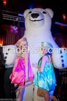 Inflatable 3 meter White Bear for weddings, birthdays, advertising
