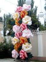 inflatable flowers Roses 5/7/10 m. for weddings, events, festivals, birthdays