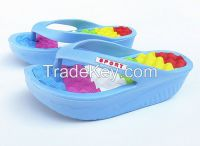 colorful ladies high heel slippers fashion rainbow eva flip flop for women