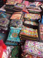 Hand Embroidered Ladies Shirts, Handbags, Cushions & Bedsheets