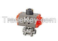 pneumatic 3 pieces ball valve