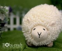 Ms. Shally the sheep - soft wool handmade plush toys, hand knitted crochet toys gifts for children