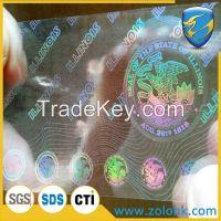 China Hologram 3D sticker, laser print hologram sticker, void hologram sticker