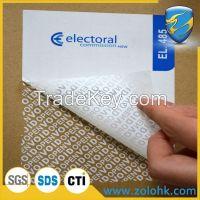 Tamper proof labels, void security seal, custom print adhesive labels
