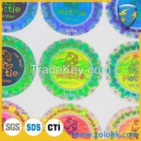 China Hologram 3D sticker, laser print hologram sticker, void hologram sticker