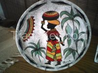 Ceramic hand painted plates - docorative purposes