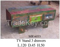 TV Stand -Living Room  - Boat Furniture -Recycled Furniture
