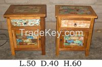 Bedside Table, Nightstand - Boat Furniture - Recycled Furniture - Special Design