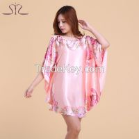 Plus Size Round Neck Women Nightgown
