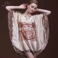 Plus Size Round Neck Women Nightgown
