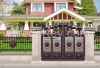 Non-welded Galvanized Zinc Steel Luxury Garden Gate, Luxury steel gate