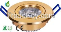 1w-30w led ceiling light led downlight with CE and RoHS or UL certifited