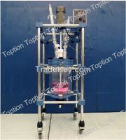 Design high quality technical 5l glass chemical  reactor