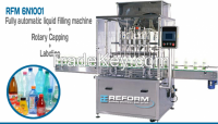 Bottle Filling, Rotary Capping and Labelling System