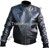 Black Mens Leather Fashion Jacket