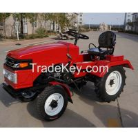good quality agriculture wheel tractor with tiller and plough mini wheel tractor