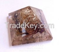 Multi Gemstone Orgone Chakra Pyramid | Orgonite Gemstone Pyramid | Orgone Pyramid On Sale