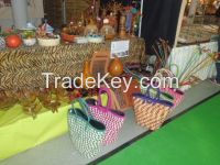 jewellery, african attire and woven handbags