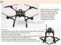 Professional  Spreading Wings K4 Drone , For Helicopter UAV Aerial Photography