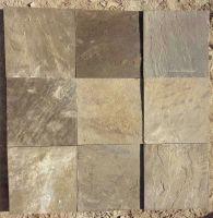 Brown sandstone paving
