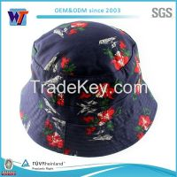 Floral Funny Wholesale Print Custom Flower Bucket Hat