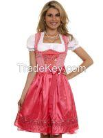 High Quality Cotton Check Bavarian Dirndls, German Dirndl Dresses for