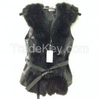 Beautiful spectacular coat  vest of fur   BLACK FOX