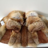 Beautiful spectacular coat of fur bolero genuine fox RED FOX 46 ( M)
