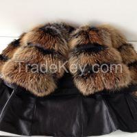 Beautiful spectacular coat of fur bolero genuine fox S M L