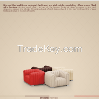 Popular Office Sofa With Metal Feet 1410