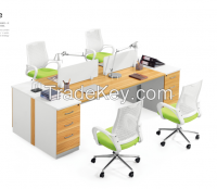 modern design four person partition,workstation attaching with pedestal