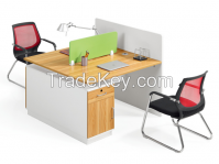 modern design two person partition, workstation attaching with pedestal
