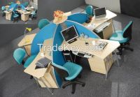 modern design five persons partition, workstation attaching with pedestal