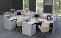 modern design four persons partition, workstation attaching with pedestal