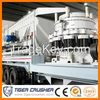 Mobile cone crushing plant# Tiger crusher